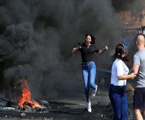 تصاویری از اعتراضات لبنان