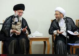 تصاویر دیدار رئیس و مسئولان قوه قضائیه مقام معظم رهبری