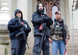 ورود معترضان مسلح به کنگره ایالتی آمریکا در میشیگان|  فیلموعکس