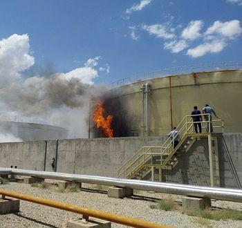 آتش سوزی در نیروگاه سیکل ترکیبی سمنان