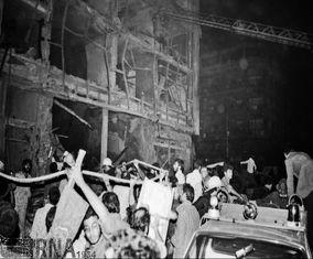 تصاویر انفجار بمب در میدان امام خمینی تهران که 36 سال پیش رخ داد
