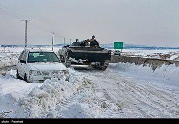 شهری در کشور که زیر برف دفن شد ! +عکس