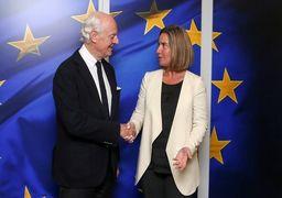 مذاکره موگرینی و دیمیستورا با محوریت سوریه