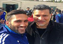 ستاره سوخته فوتبال ایران در کنار اسطوره +عکس