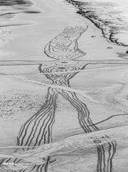 نقاشی روی شنهای ساحل