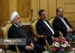 تصاویر بدرقه رسمی حسن روحانی پیش از عزیمت به عراق