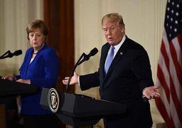 رئیس جمهوری آمریکا با صدراعظم آلمان در کاخ سفید دیدار کردند