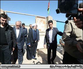 حواشی تصویری بازدید روحانی از مناطق زلزله زده