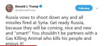 توییت جنگی ترامپ/ بیش از 100 موشک به سوریه شلیک شد