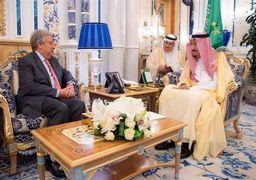 ملک سلمان با دبیر کل سازمان ملل دیدار کرد