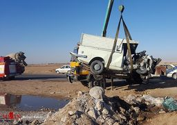 تصادف مرگبار وحشتناک در مشهد + عکس