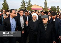 تصاویر مراسم تشییع خواهر حسن روحانی