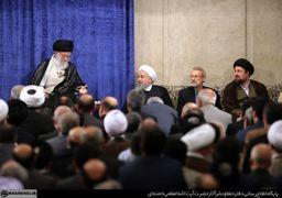 خوش و بش رهبر انقلاب و رئیسجمهور+عکس