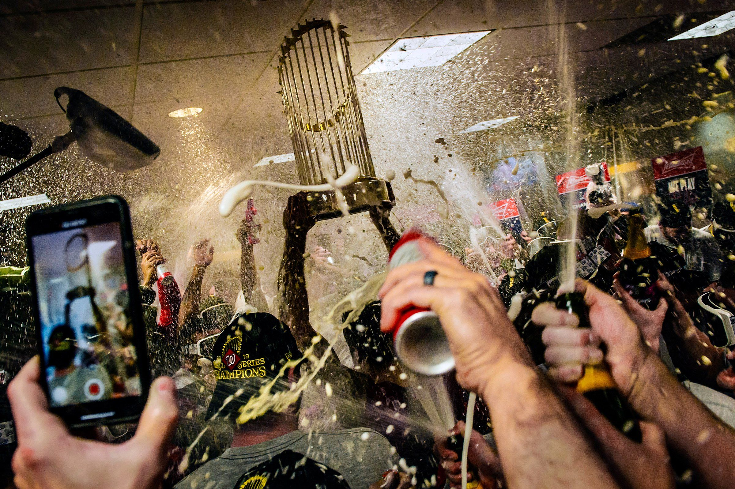 Not since 1924, when Calvin Coolidge was in the White House, had a baseball team in America's capital won the World Series. But on Oct. 30, with a 6-2 victory over the Houston Astros in Game 7, the Washington Nationals did. The Commissioner's Trophy, hoisted that night, mostly withstood the resulting celebration in the victors' clubhouse.