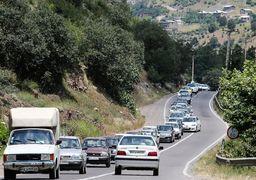 ترافیک پرحجم در جادههای شمالی/ چالوس فردا یکطرفه میشود