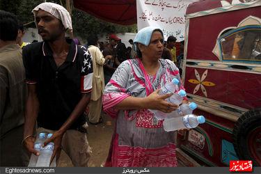 موج گرمای مرگبار در پاکستان (گزارش تصویری)