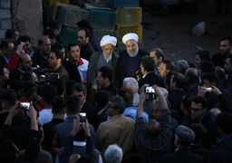 رئیس جمهوری از مناطق سیل زده مازندران بازدید کرد