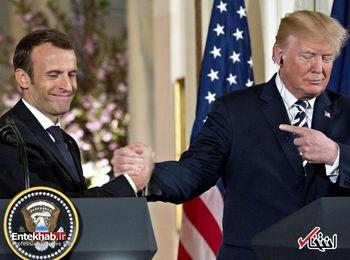 گفتگوی تلفنی ترامپ و مکرون