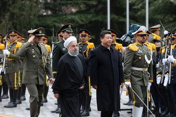 استقبال بارانی روحانی از شی جینپینگ/ مذاکرات خصوصی 2 رئیسجمهور آغاز شد