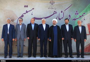 نشست صمیمی روحانی با رقبای انتخاباتی / عکس : حمید فروتن - ایسنا