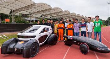 دانشآموزان سنگاپوری خودروهای خورشیدی چاپ میکنند
