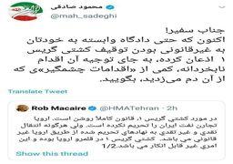 پاسخ محمود صادقی به سفیر انگلیس در تهران