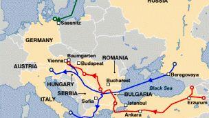 خط لوله انتقال گاز از شرق سیبری به  مرز چین می رود