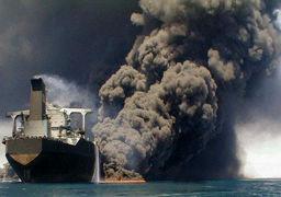 افزایش خطر انفجار نفتکش ایرانی + عکس