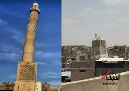 آنچه که از مناره مسجد جامع النوری در موصل باقی ماند + عکس