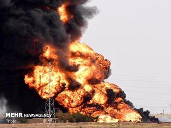 مهار آتشسوزی در خط لوله در خوزستان