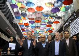 بازدید وزیر فرهنگ و ارشاد اسلامی از کتاب فروشیهای خیابان انقلاب