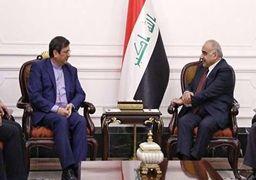 همتی در بغداد با نخست وزیر عراق دیدار و گفتگو کرد