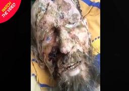 فیلم زنده پیدا شدن مرد روس در مخفیگاه خرس قهوهای!