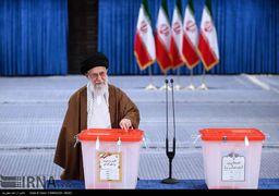 شرکت مقام معظم رهبری در انتخابات