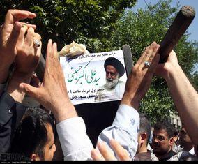 تصاویری از تشییع پیکر حجتالاسلام حسینی
