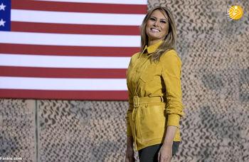 آیا زنی که با ترامپ به مسافرت میرود، ملانیای واقعی است؟+عکس