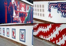 جمجمه در دیوار سفارت پیشین آمریکا در تهران+عکس
