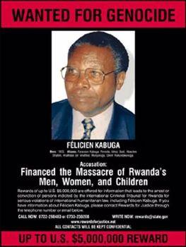 فلیسین کابوگا، متهم ردیف اول نسلکشی رواندا دستگیر شد