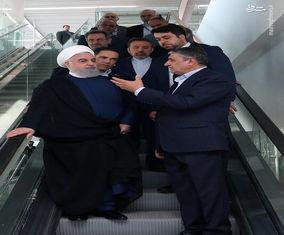 تصاویر افتتاح ترمینال جدید فروگاه امام(ره) توسط روحانی
