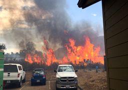 گرمای بیسابقه هوا در غرب آمریکا منجر به آتشسوزی شد