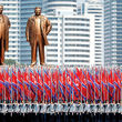 رژه نظامی کره شمالی بدون موشکهای بالستیک