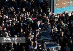 تصاویری از مراسم تشییع پیکر آیت الله هاشمی شاهرودی از مصلی تهران