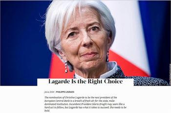 گمانهزنیها درباره ریاست لاگارد بر بانک مرکزی اروپا
