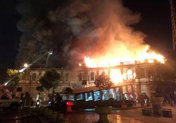 مهار آتشسوزی میدان حسنآباد/بخشی از بافت تاریخی تهران سوخت