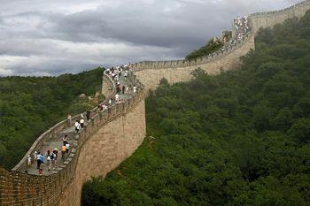 دیدار آیت الله خامنه ای از دیوار چین +عکس
