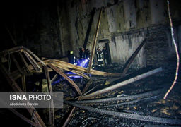 تصاویری از آتش سوزی در سینما بهمن شیراز