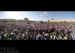 تصاویر سخنرانی حسن روحانی در میدان نقش جهان اصفهان