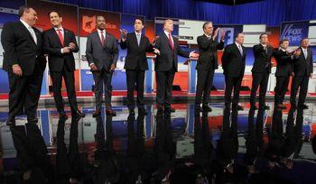 نخستین مناظره مقدماتی نامزدهای جمهوریخواه انتخابات آمریکا برگزار شد