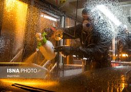 تصاویر | ضدعفونی کردن اتوبوسهای تهران برای پیشگیری شیوع کرونا