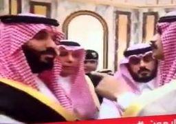فیلم تنش در مراسم بیعت با بن سلمان